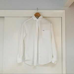 FACONNABLE Crisp White Button Down, Sz S